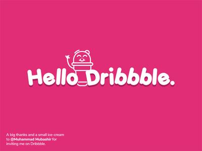 Hello dribbble. :)