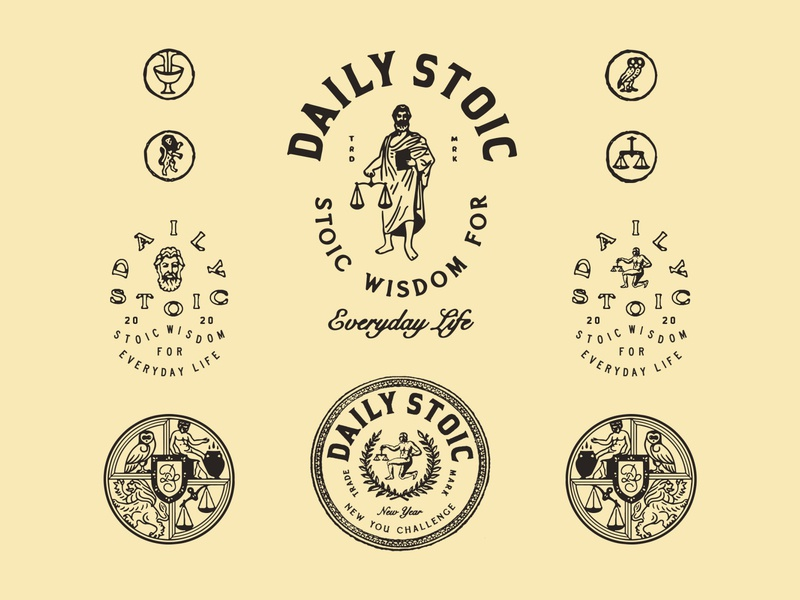 Daily Stoic vintage artwork logo graphicdesign typography graphic lettering branding design illustration