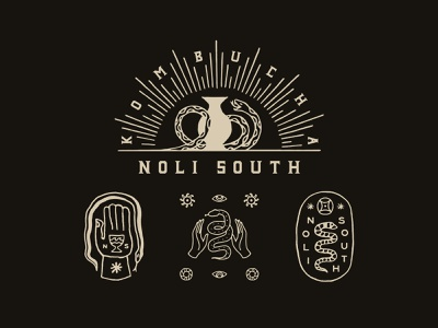 Noli South vintage artwork logo graphicdesign typography graphic lettering branding design illustration
