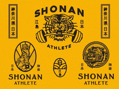 Design for Shonan Athlete logo oriental illustration japan