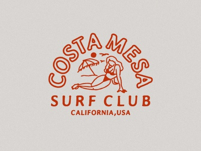 Design for CMSC | Costa Mesa Surf Club graphic california vintage surf
