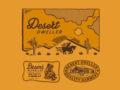 Desert Dweller appareldesign illust packaging type direction artwork art vintage packagedesign graphicdesign logo typography lettering branding graphic design illustration