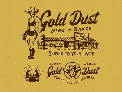 Gold Dust appareldesign illust packaging type direction artwork art vintage packagedesign graphicdesign logo typography lettering branding graphic design illustration