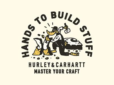 Hurley x Carhartt surf appareldesign illust direction artwork art vintage packagedesign graphicdesign logo typography lettering branding graphic design illustration