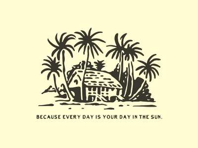 Because every day is your day in the sun. surfing surfart surf appareldesign packaging type illust direction artwork art vintage packagedesign graphicdesign logo typography lettering branding graphic design illustration