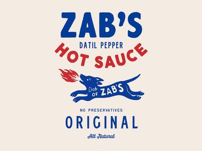 Zabs Datil Pepper Hot Sause character packaging type illust direction artwork art vintage packagedesign graphicdesign logo typography lettering branding graphic design illustration
