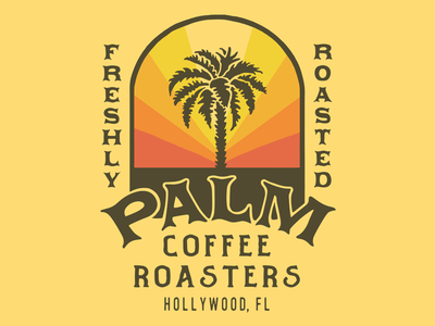 Palm Coffee Roasters type packaging illust direction artwork art vintage packagedesign graphicdesign logo typography lettering branding graphic design illustration