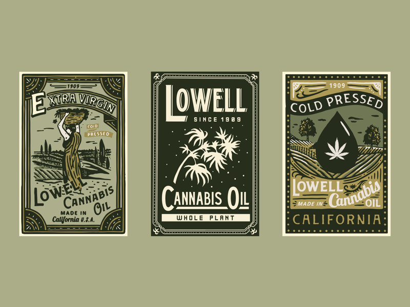 Lowell Farms vintage typography packaging packagedesign logo lettering illustration illust graphicdesign graphic direction design branding artwork art
