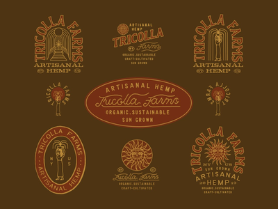 Tricolla Farms graphicdesigner direction vintage drawing artdirection illust graphicdesign branding packaging illustration design