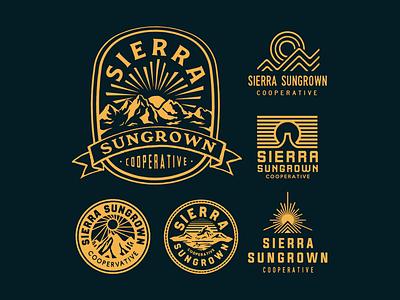 Sierra Sungrown badgedesign badge icon vintage typography lettering illustration handdrawn drawing design branding artwork