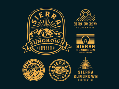 Sierra Sungrown badgedesign badge icon vintage typography lettering illustration handdrawn drawing design branding artwork