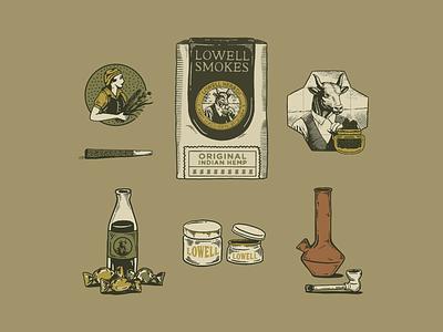 Lowell Farms illust branding artwork art graphicdesign illustration