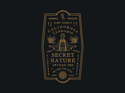 Secret Nature CA vintage typography packaging lettering illustration graphicdesign drawing direction design branding artwork