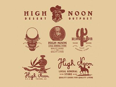 High Noon vintage typography logo lettering illustration illust graphicdesign direction graphic branding artwork