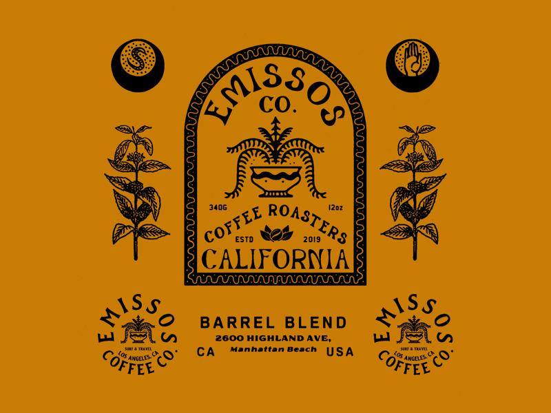 Emissos packagedesign packaging vintage logo illustration illust direction branding typography lettering grapicdesign design artwork art