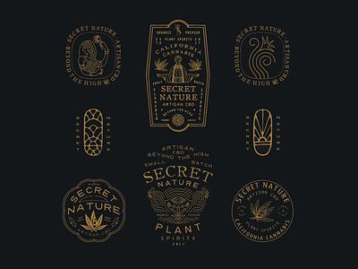 Secret Nature vintage typography packaging packagedesign logo lettering illustration illust graphicdesign direction design branding artwork art