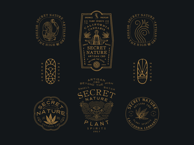 Secret Nature vintage typography packaging packagedesign logo lettering illustration illust graphicdesign direction design branding artwork art