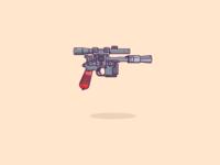 Blaster pistol of Han Solo