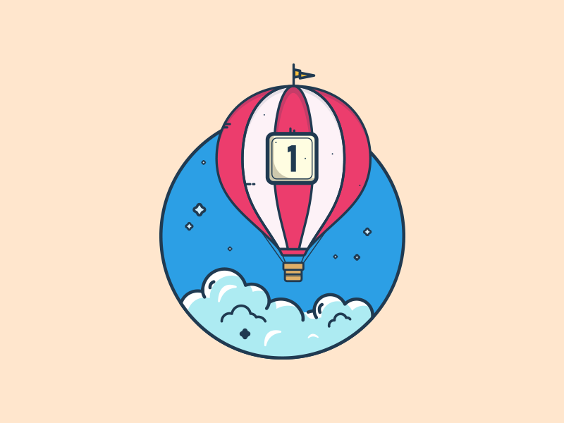 One invitation to giveaway :) flat illustration hot air balloon dribbble invite giveaway dribbble invitation colors clouds balloon invitation graphic art illustration art illustration