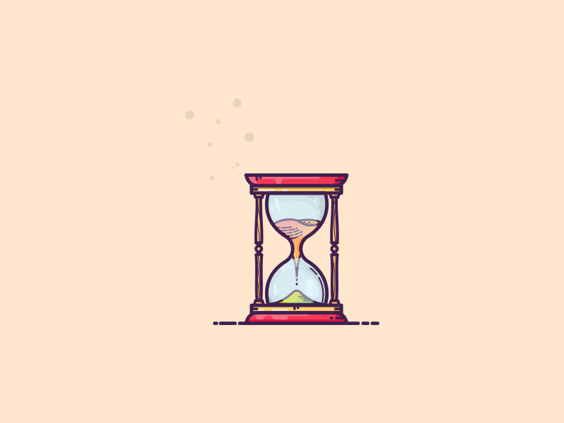Things from past #2 : Hourglass clockwork clock time sand hourglass cool colors client work retro art warm colors illustrator colors graphic art illustration art graphic design illustration