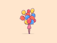 Girl with balloons... lots of balloons :)