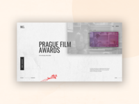Prague film awards web design - UI design