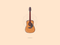 An acoustic guitar