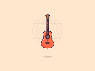 An Ukulele :) strings illustrator vector geometric art shape geometric gibson ibanez folk music ukulele retro icon vintage minimal flat illustration graphic art illustration art graphic design illustration
