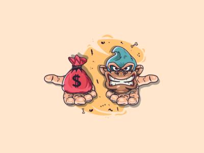 Money or, Donkey Kong? :D