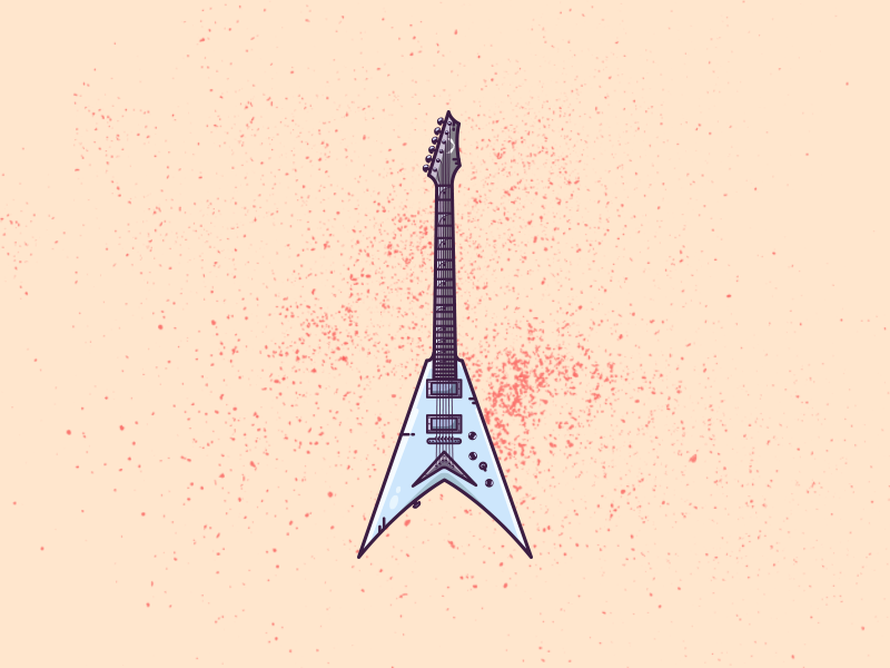 More Guitars ..... A dean mustaine V design colors music metal electric guitar metalhead rock and roll mustaine guitar dean vector graphic art illustrator minimal flat illustration graphic design illustration art illustration
