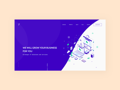 LA creative inc. website redesign