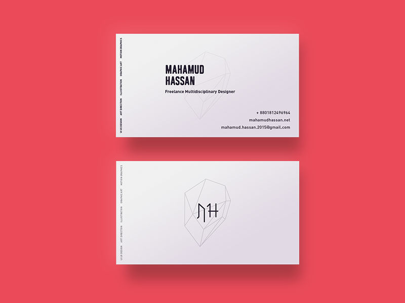 Personal Business card :) vector icon geometric design logo personal branding branding minimal branding visiting cards visiting card design visiting card business card minimal flat illustration graphic design illustration
