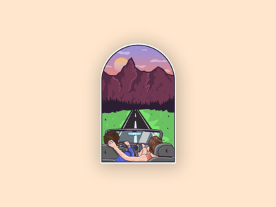 Mountain & Road Illustration for a client :)