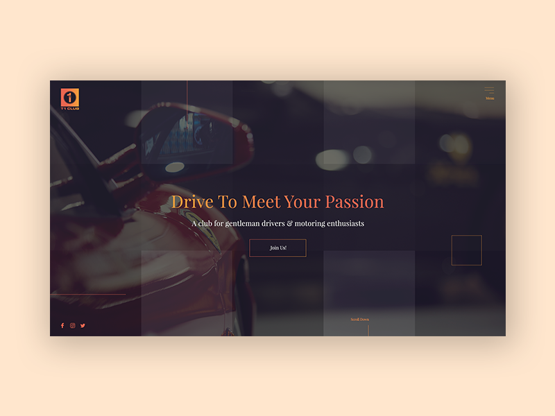 Another Landing page dark ui colors classy wine red uidesign rejected ui design club website ui ux design ui designer web designer web design club racing homepage design homepage landing page design landing page ui ux ui