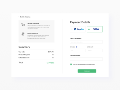 Daily UI #02 Payment details