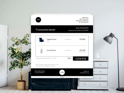 Daily UI #17 Email Receipt ecommence email email receipt daily ui 30daychallenge