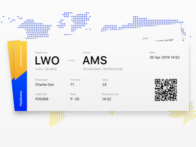 Daily UI #24 Boarding Pass