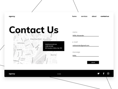 Daily UI #28 Contact Us contact us daily ui 30daychallenge