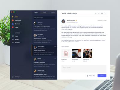 Email app – Dark theme