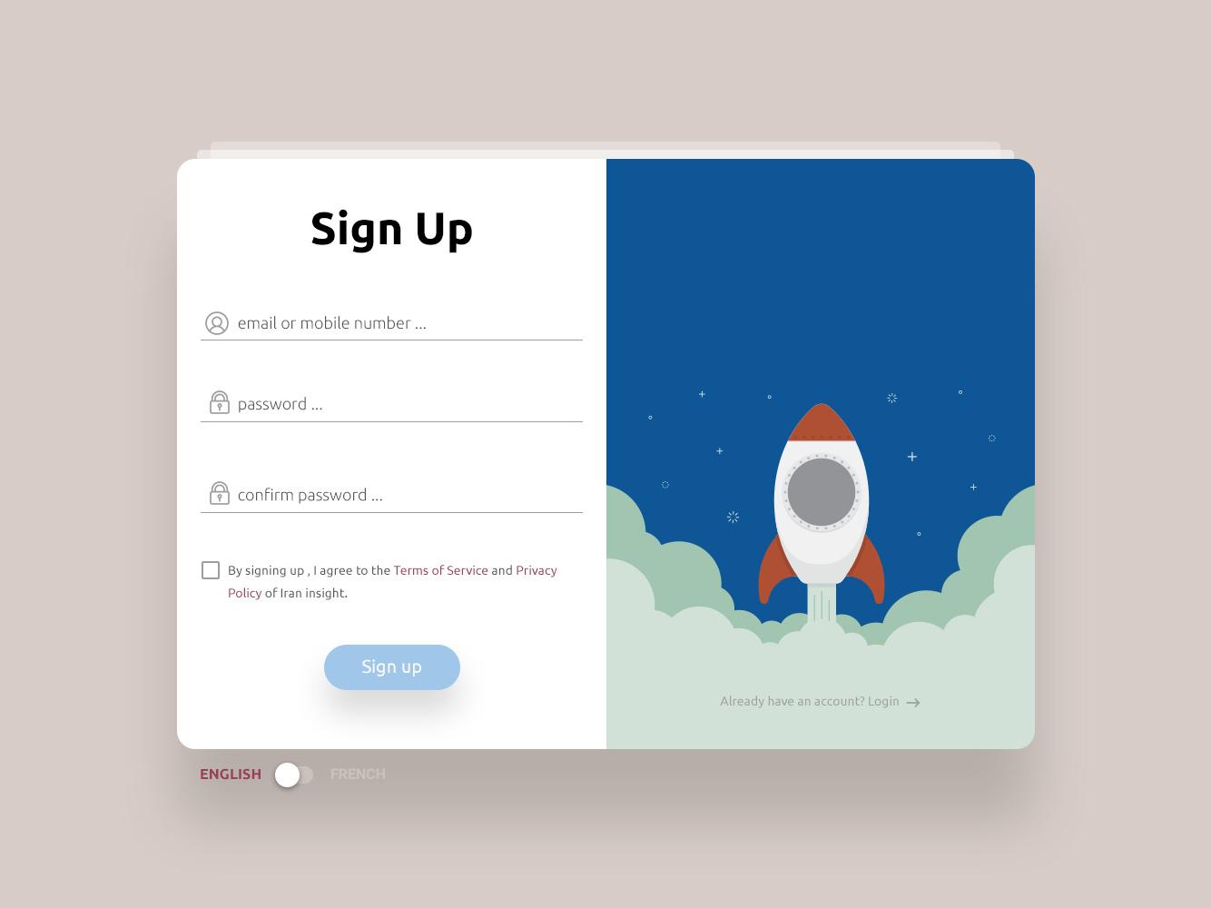 Sign Up Form application signup page form signup form signup 001 dailyui