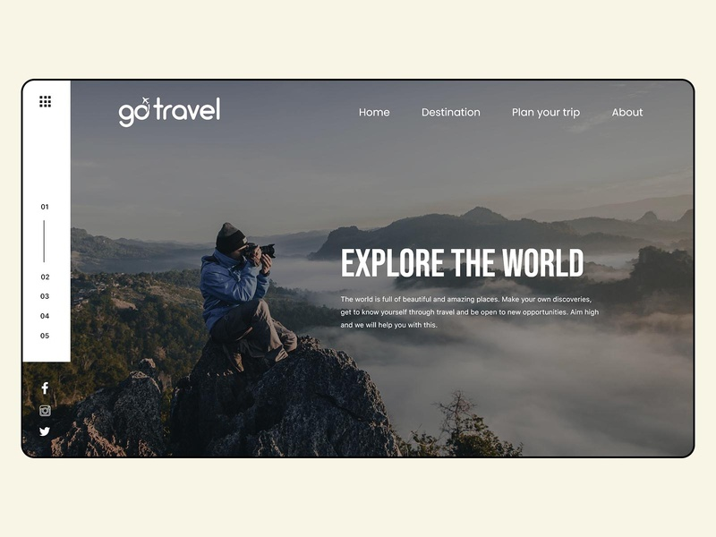 Landing page design for Travel website webdesign web ux ui travel tourism landing page design branding graphicdesign design illustrator