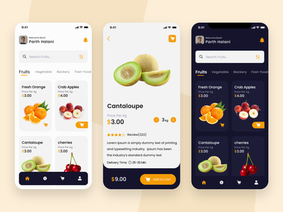 Fruit App uiux food fruit illustration fruit fruit app