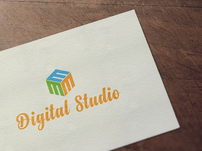 M3 Digital Studio Logo logodesign typography logo illustration graphicdesigner graphicdesign debut creativity design photoshop illustrator