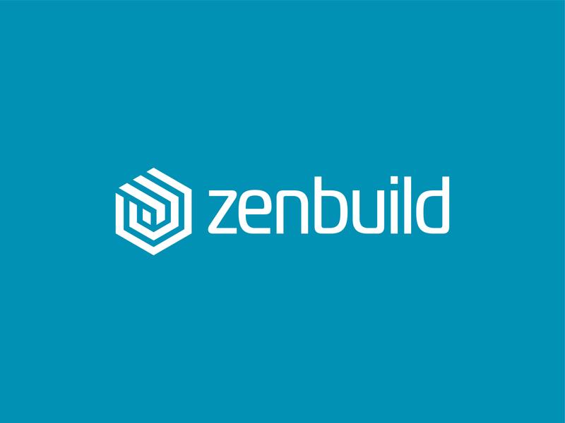 Zenbuild zen garden blue brick builder build design website building hexagon zen branding