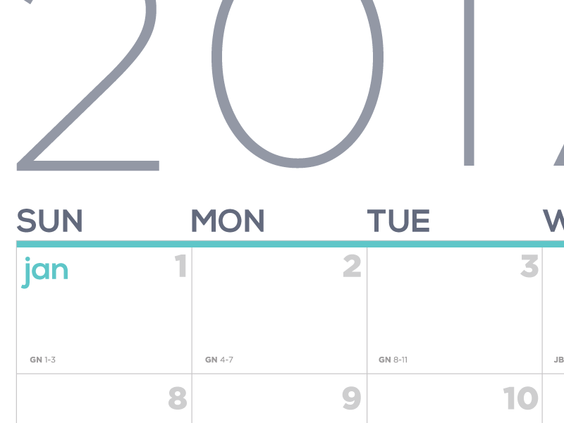 Bible Reading and Planning Calendar