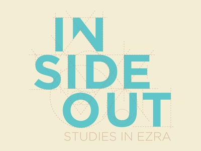 Inside Out – A Sermon Series Logo blueprint arrow negative space heart build