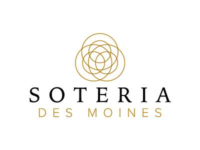 Soteria Des Moines Logo connect circles gold