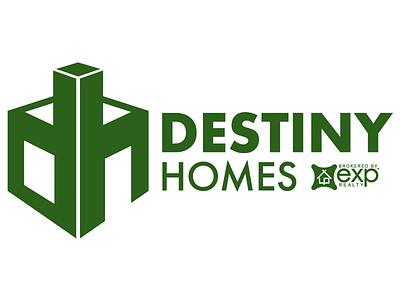 Destiny Homes Logo negative space iowa home builder logo