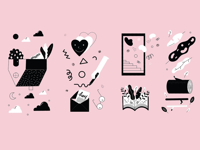 Happiness vector illustration textures shapes pattern illustrator personal project illustraion digital illustration digital colors artwork adobeillustrator