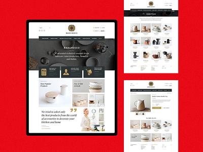 Kitchenware Store typogaphy ui minimal grid layout clean website